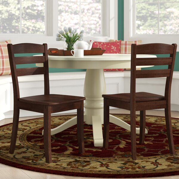 Pico Contemporary Solid Wood Dining Chair (Set of 2) by Alcott Hill