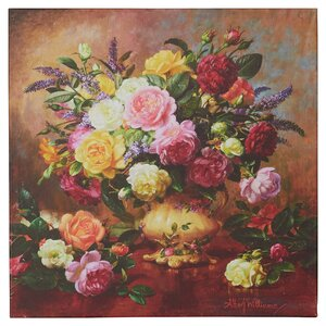 Roses from a Victorian Garden by Albert Williams Painting Print on Wrapped Canvas by Alcott Hill