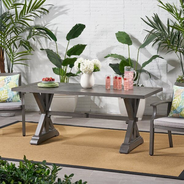 Haverstraw Aluminum Dining Table by Gracie Oaks