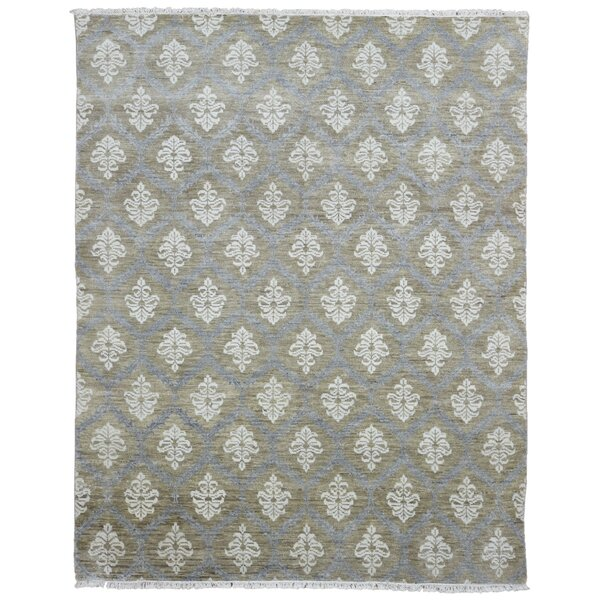 One-of-a-Kind Ezine Oushak Hand Woven Wool Gray/Beige Area Rug by Isabelline
