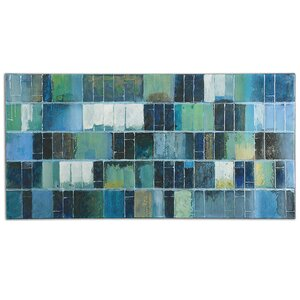 Glass Tiles by Billy Moon Painting on Canvas by Uttermost