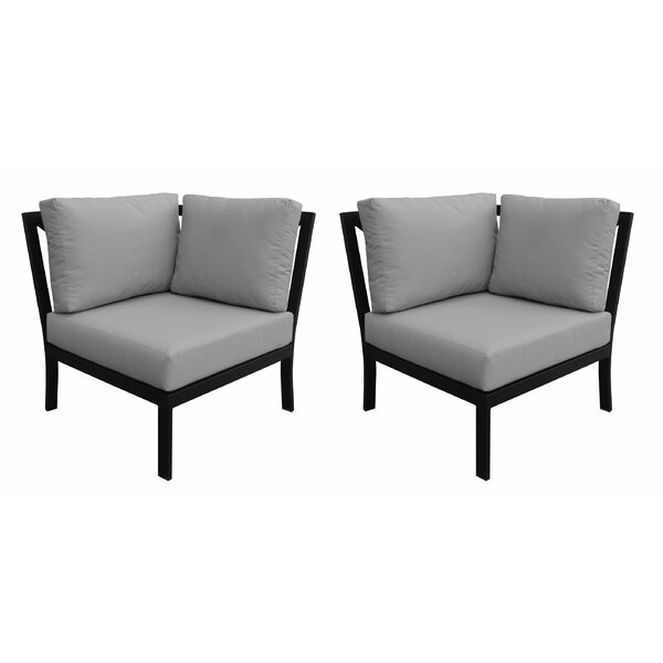 Madison Patio Corner Chair (Set of 2) by kathy ireland Homes & Gardens by TK Classics kathy ireland Homes & Gardens by TK Classics
