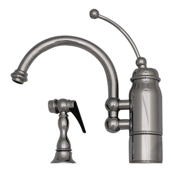 New Horizon One Handle Single Hole Kitchen Faucet by Whitehaus Collection
