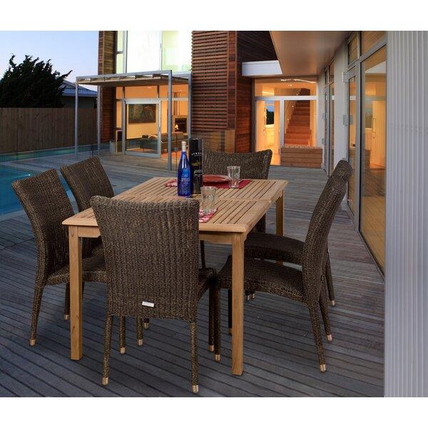 Elsmere 7 Piece Teak Dining Set by Beachcrest Home