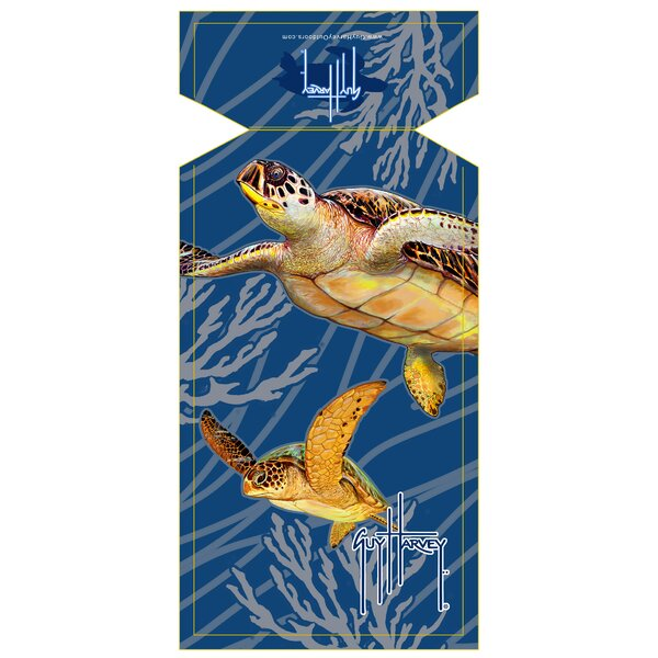 Guy Harvey Sea Turtle Beach Towel by Fiberbuilt