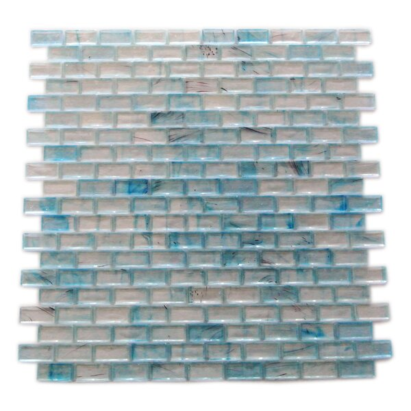 Amber 0.63 x 1.25 Glass Mosaic Tile in Glazed Sky Blue by Abolos