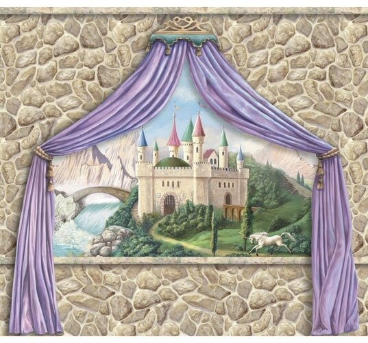Enchanted Kingdom Castle Canopy Wall Mural by 4 Walls