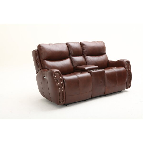 Ellington Leather Reclining Loveseat by Southern Motion