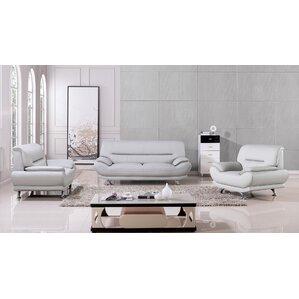 Denzel 3 Piece Living Room Set