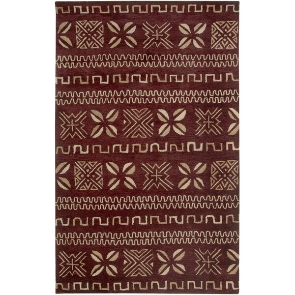 Cayenne Hand-Tufted Red Area Rug by Meridian Rugmakers