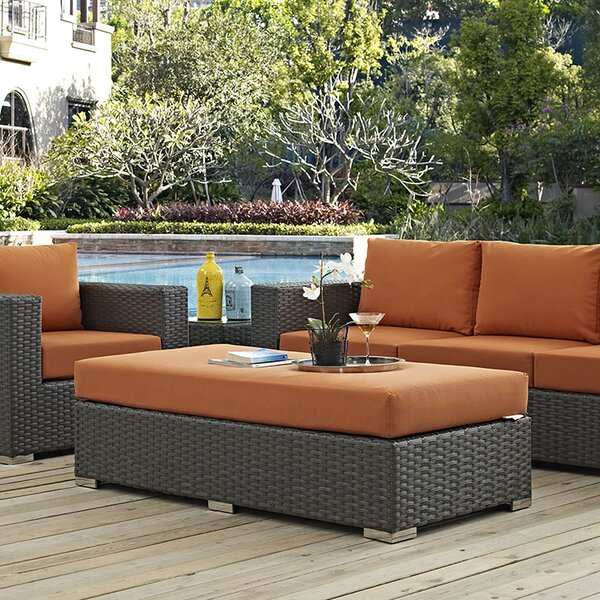 Tripp Outdoor Ottoman with Sunbrella Cushion by Brayden Studio