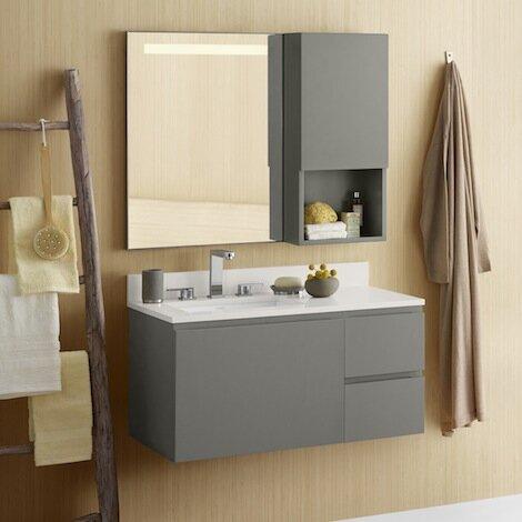 Ariella 35 Wall Mount Single Bathroom Vanity Set by Ronbow