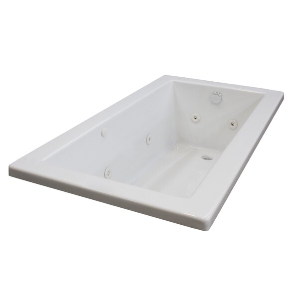 Guadalupe 72 x 36 Rectangular Whirlpool Jetted Bathtub with Drain by Spa Escapes