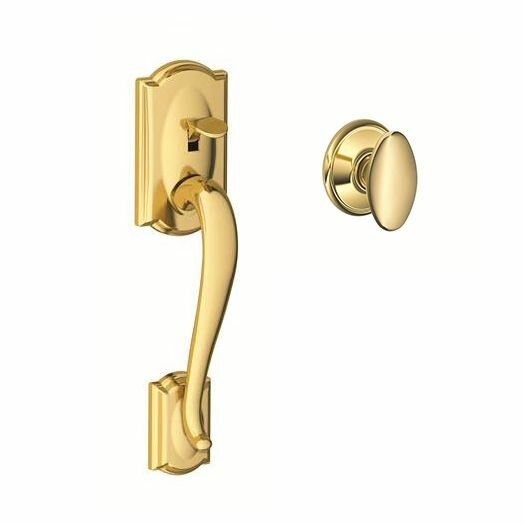 FE Series Camelot Lower Half Handleset with Siena Knob by Schlage
