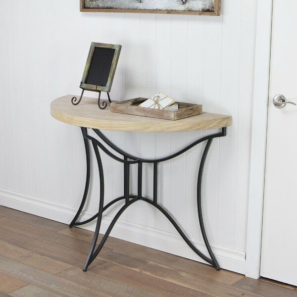 Review Prichard Top Half Round Console Table