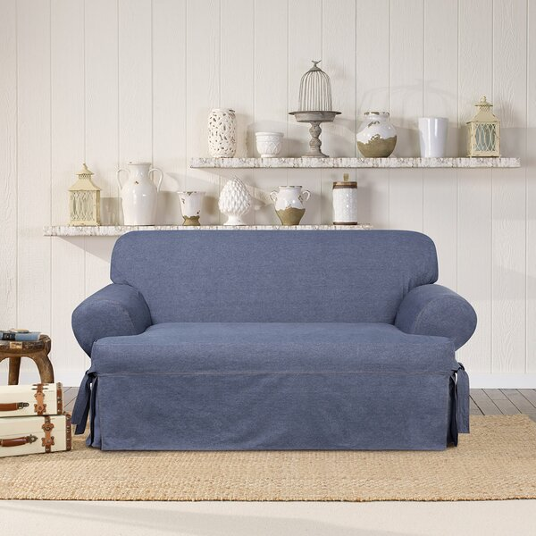 Authentic T-Cushion Loveseat Slipcover by Sure Fit