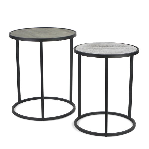 Cristiano 2 Piece Nesting Tables by Gracie Oaks Gracie Oaks