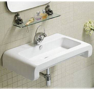 Isabella Ceramic 28 Wall Mount Bathroom Sink with Overflow by Whitehaus Collection
