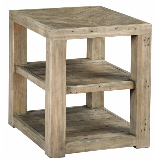 Wesley Floor Shelf End Table with Storage by Highland Dunes Highland Dunes
