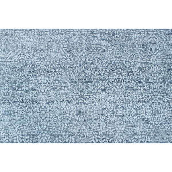 One-of-a-Kind Abrego Hand-Knotted Blue/Gray Area Rug by Isabelline