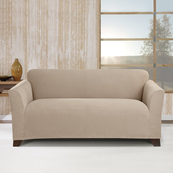 Stretch Morgan Box Cushion Loveseat Slipcover By Sure Fit
