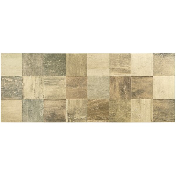 Lucky 3D 12 x 32 Ceramic Wood Look Tile in Natural by Splashback Tile