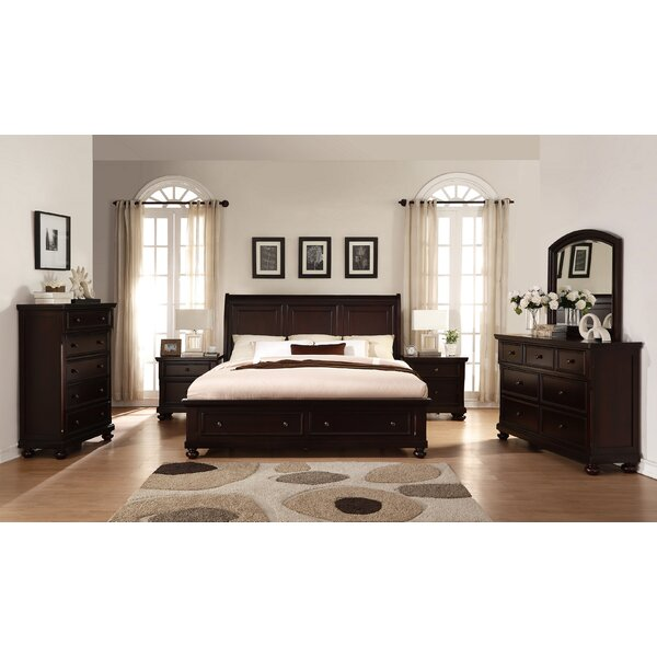 Brishland King Platform 6 Piece Bedroom Set by Roundhill Furniture