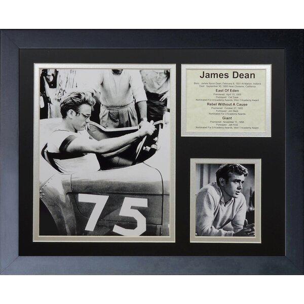 James Dean Framed Memorabilia by Legends Never Die