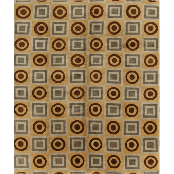 One-of-a-Kind Gingrich Stark Brand Oriental Hand-Knotted Wool Brown Area Rug by Red Barrel Studio
