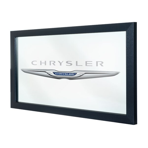 Chrysler Framed Logo Accent Mirror by Trademark Global