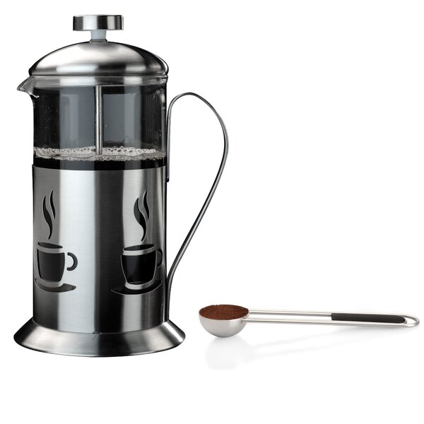 2-Cup 3 Piece French Press Coffee Maker Set with Coffee Clipping Spoon by BergHOFF International