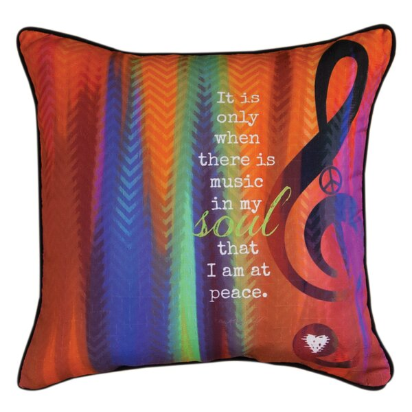 Music in My Soul Throw Pillow by Manual Woodworkers & Weavers