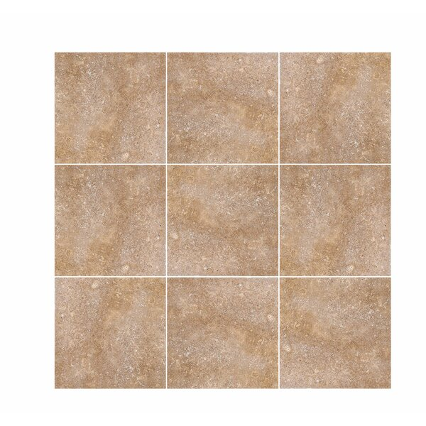Tumbled 6 x 6 Travertine Field Tile in Noce by Parvatile