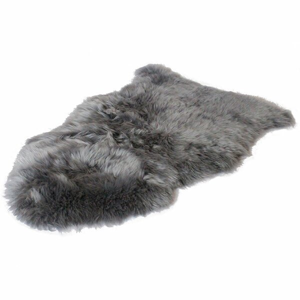 Lowry Sheepskin Gray Area Rug by Union Rustic