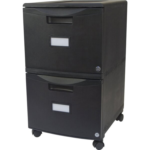 Sabina 2-Drawer Mobile File Vertical Filing Cabinet with Lock by Symple Stuff