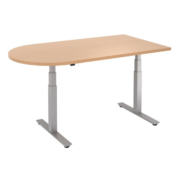 D-Top Height Adjustable Standing Desk by Trendway