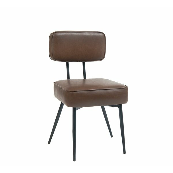 Upholstered Side Chair In Brown (Set Of 2) By ERF Inc.