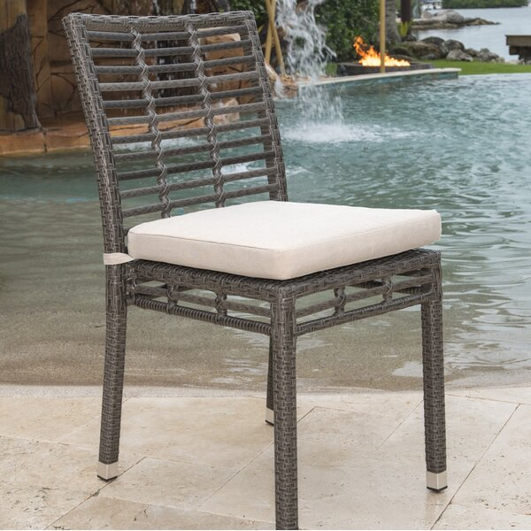 Stacking Patio Dining Chair with Cushion by Panama Jack Outdoor Panama Jack Outdoor