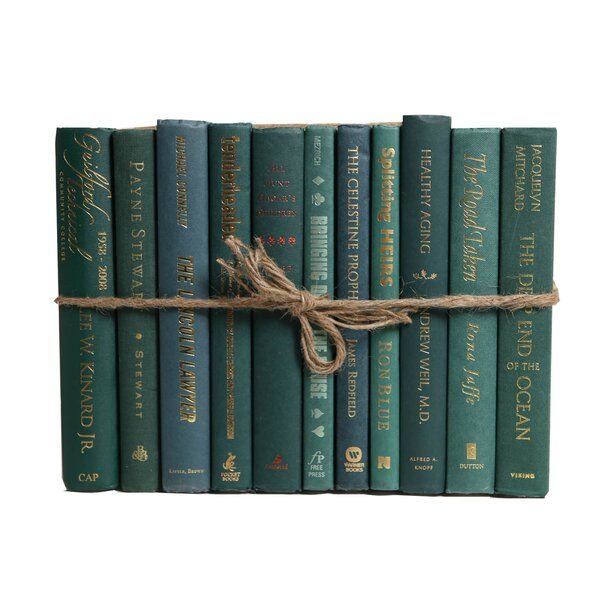 Authentic Decorative Books - By Color Modern Forest ColorPak (1 Linear Foot, 10-12 Books) by Booth & Williams
