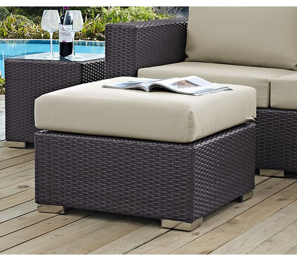 Ryele Ottoman with Cushion by Latitude Run