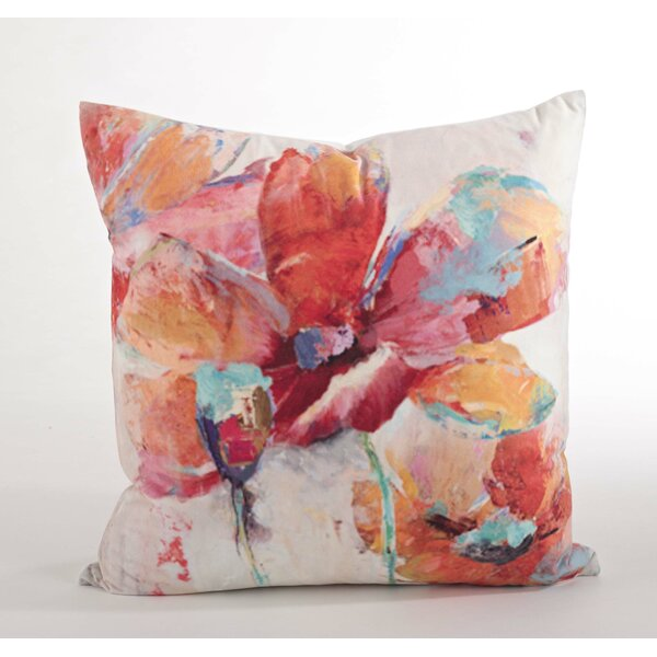 Flower Market Floral Design Throw Pillow by Saro