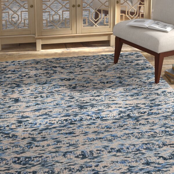 Burns Hand-Knotted Wool Navy Area Rug by Bungalow Rose