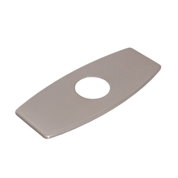 Solid Brass 3-to-1 Hole Conversion Inflated Rectangle Shaped Faucet Deck Plate by Elite