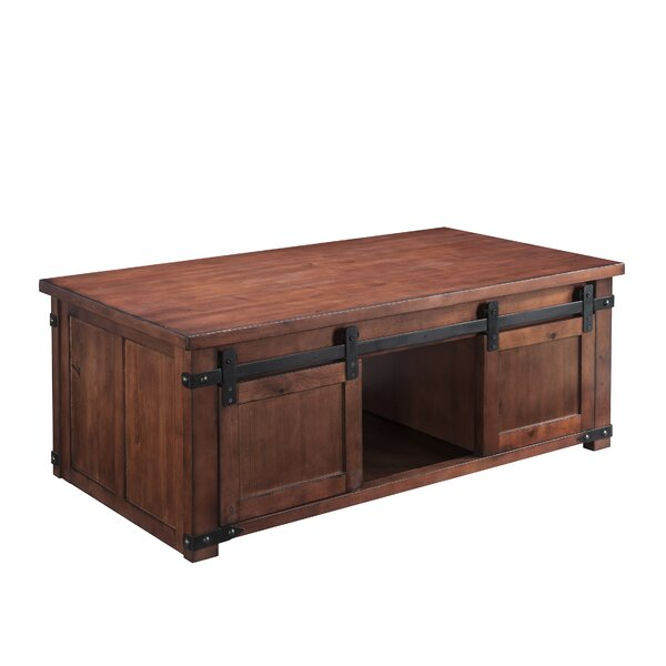 Krikor Solid Wood Block Coffee Table With Storage By Gracie Oaks