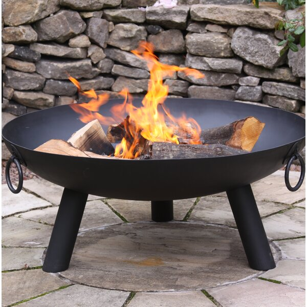 Jotunheim Steel Wood Burning Fire Pit By World Menagerie