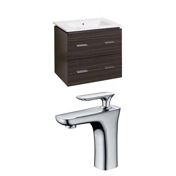 Maryalice Wall Mount 24 Wall-Mounted Single Bathroom Vanity Set by Royal Purple Bath Kitchen