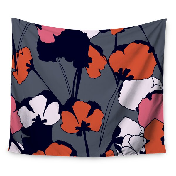 Pop Flowers by Gabriela Fuente Wall Tapestry by East Urban Home