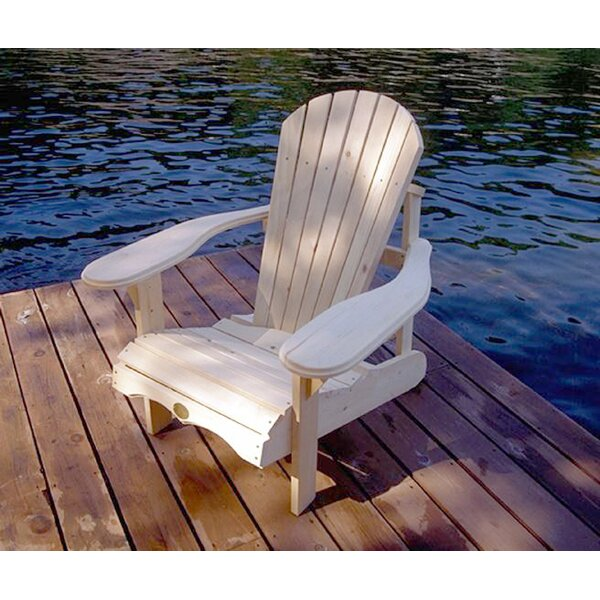 Raphaelle Solid Wood Adirondack Chair by August Grove