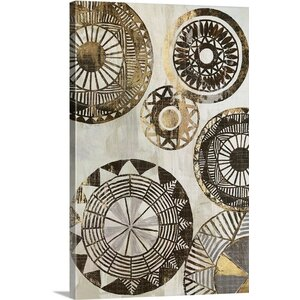 'African Rings II' by Tom Reeves Graphic Art Print on Canvas by Great Big Canvas