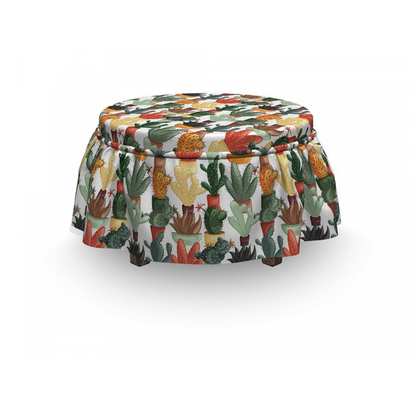 Mexican Succulent Plant Ottoman Slipcover (Set Of 2) By East Urban Home